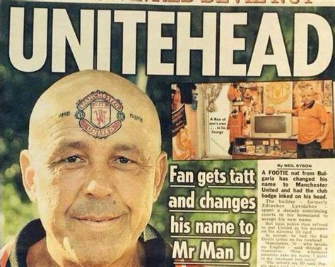 Photo of the Day: Fan Tattoos Manchester United Logo on ...