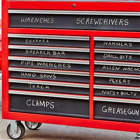 label  metal toolbox  chalkboard spray paint