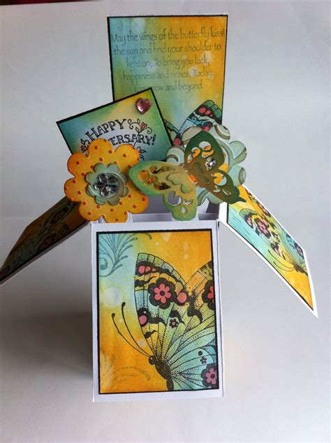 butterfly dreams box card  images pop  box cards