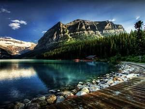 Lake, Louise, Alberta, Canada, Fantastic, Desktop, Wallpaper