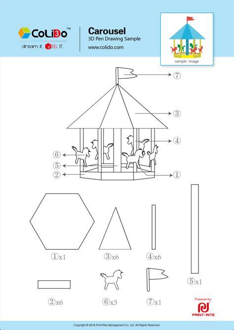 carousel book template bouwwerken sjablonen 3d pen inspiratie