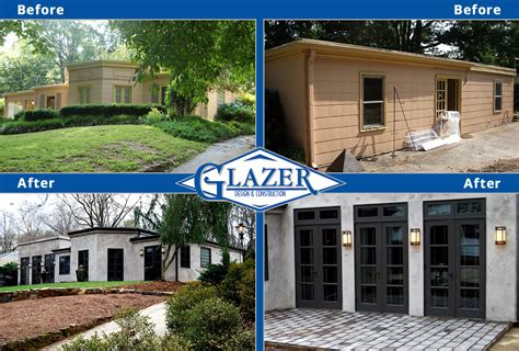 before and after house renovation home renovation before and after glazer construction atlanta