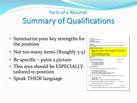 Key Parts Of A Resume by Ppt Writing Your R 233 Sum 233 Career Center Workshop Powerpoint Presentation Id 3111498