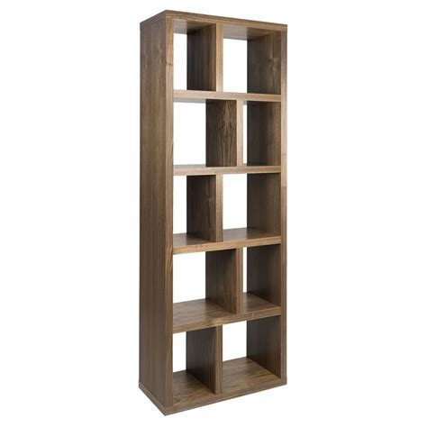 "TemaHome Berlin 5 Level 28"" Walnut Bookcase   Eurway"
