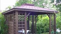 building a gazebo Gazebo Pergola Construction DIY Installation How to - YouTube