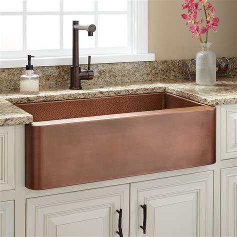 raina copper farmhouse sink kitchen