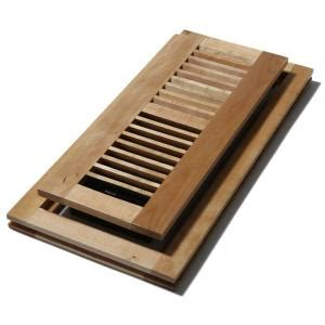 floor registers home depot canada decor grates 4 in x 10 in wood maple flush mount