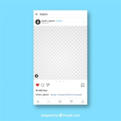 instagram app template vector
