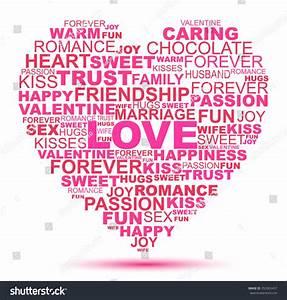 Love Word Collage Heart Shape Stock Illustration 253365457 ...
