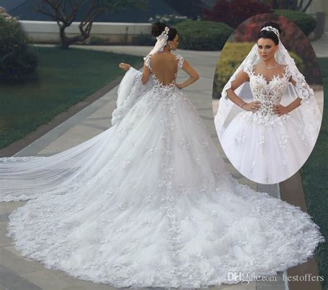 Luxury Ball Gowns Wedding Dresses 2018 New Spaghetti With