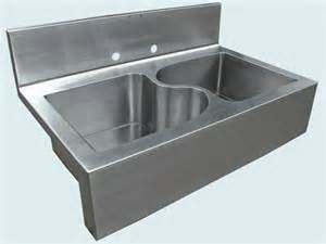 kitchen sinks with backsplash custom stainless sink backsplash sink from handcrafted metal