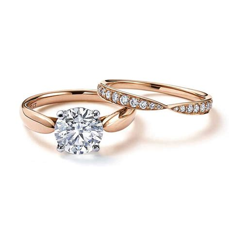 harmony rose gold engagement ring   central solitaire