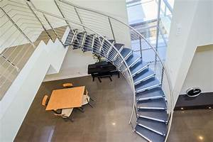 European Cabinets' Custom Curved Staircase Offers A Grand ...