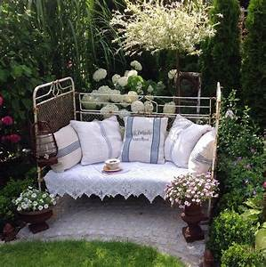 altes eisenbett garten deko garten pinterest With französischer balkon mit garten deko steine
