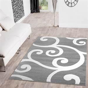 Teppich Grau Weiß Gestreift : teppich grau wei gestreift elegant hochflor teppich kuschelig uni farben wei with teppich grau ~ Markanthonyermac.com Haus und Dekorationen