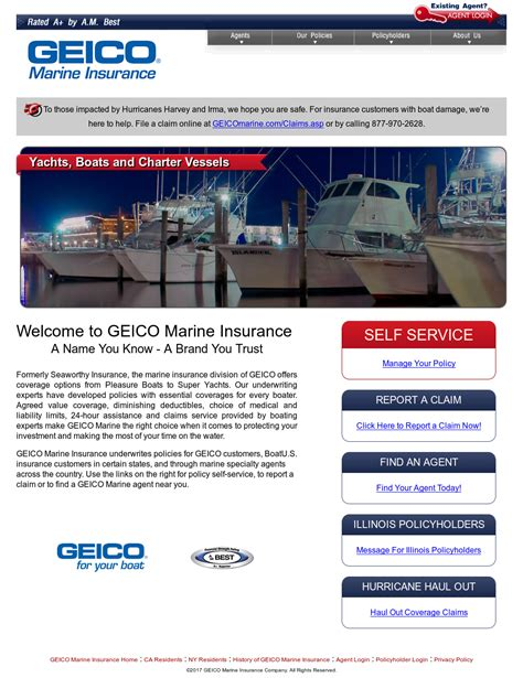 Geico marine insurance is the choice when it comes to superior coverage for insuring your pleasure boats. Geico Marine Insurance Login - Insurance
