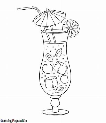 Coloring Drink Cold Coloringpages Sweet Drawings