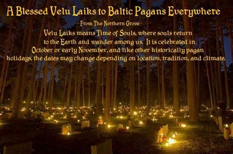 Velu Laiks - The Time of the Spirits The end of autumn and ...