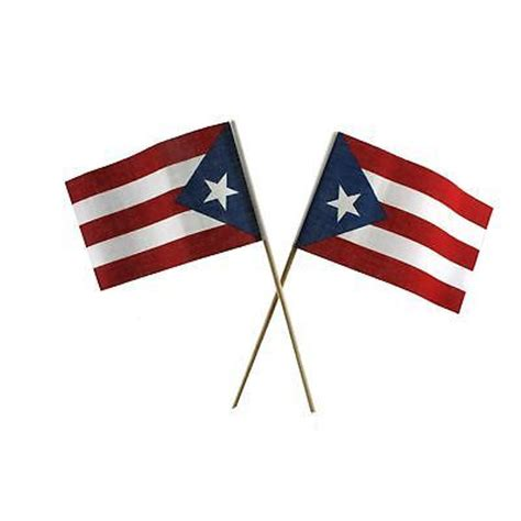 Puerto Rico Small Flags(2) Puerto Rican Party Tabletop ...