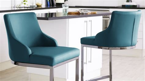 Teal Leather Bar Stools Dining Room   Wingsberthouse teal