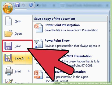 how to make a powerpoint how to create a photo slideshow with powerpoint with