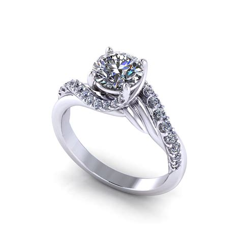 bypass engagement ring jewelry designs