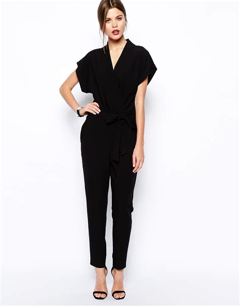 misses jumpsuits womens black jumpsuit with sleeves fashion ql