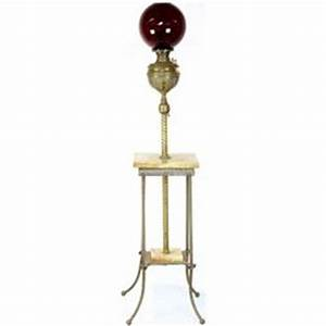 antique brass and marble piano lamp With floor lamp 1m