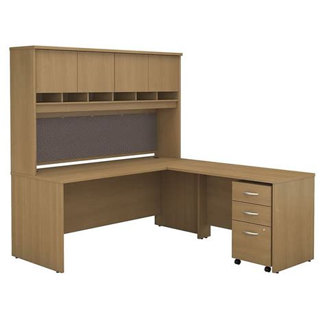 bush business series c 72 quot l shaped desk with hutch in
