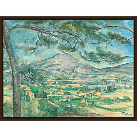buy the courtauld gallery paul c 233 zanne the montagne sainte victoire with large pine circa 1882