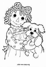 Coloring Raggedy Ann Doll Pages Andy Rag Farm Adult Animal Sheets Printable Patterns Colouring Drawing Dolls Embroidery Getcolorings Doodle Costume sketch template