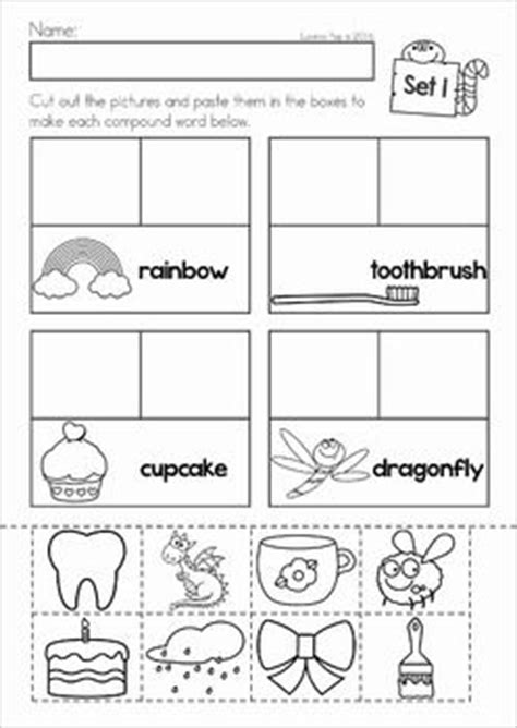 cut and paste compound words worksheets compound words