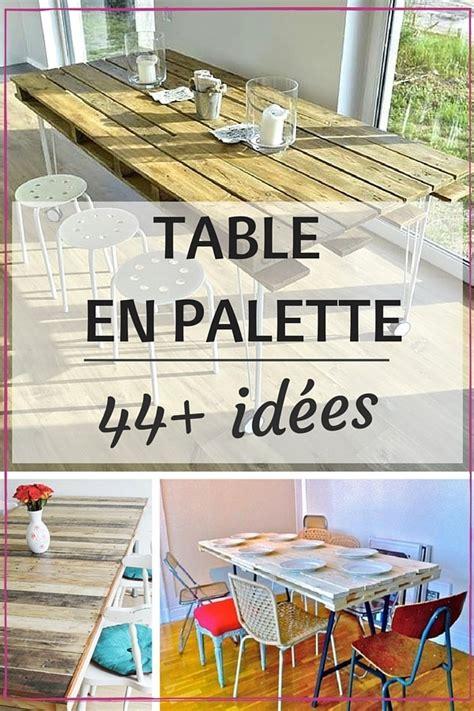 meuble cuisine en palette table en palette 44 idées à découvrir photos