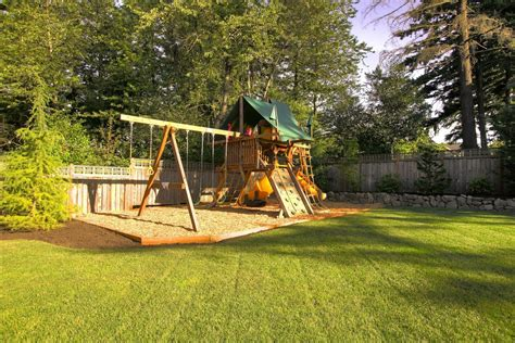 Modern Backyard With Kids Outdoor Play Area #37