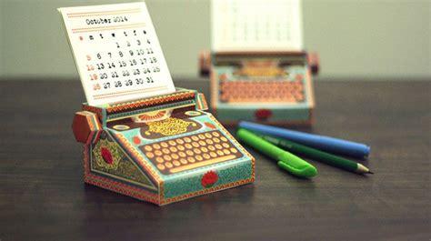 printable typewriter calendar  fits   pocket