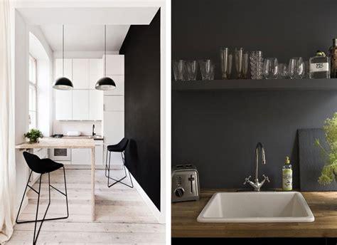 mur ardoise cuisine du noir sur les murs blueberry home
