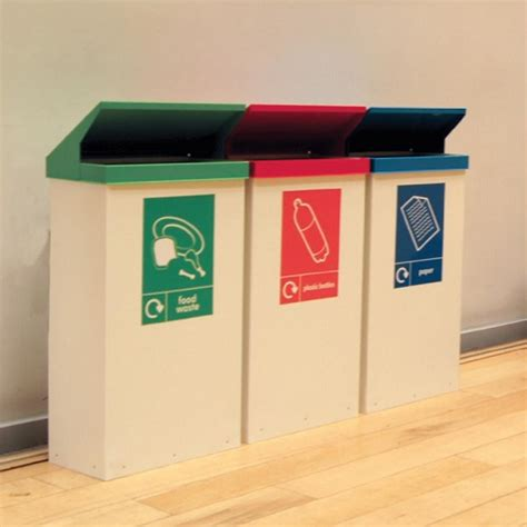 storage container with lid easy cycle office recycling bin buy from bin shop