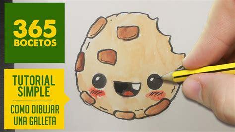 como dibujar una galleta kawaii paso a paso dibujos kawaii faciles how to draw a cookie