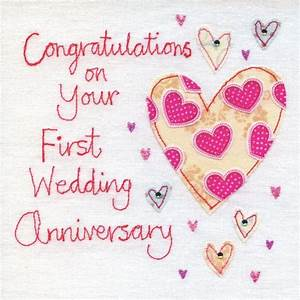 hand finished first wedding anniversary card karenza paperie With first year wedding anniversary