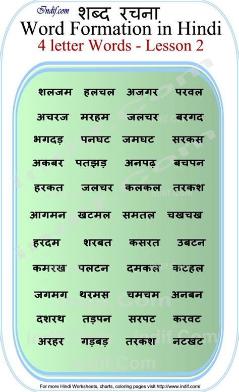 read hindi  letter words hindi reading pinterest