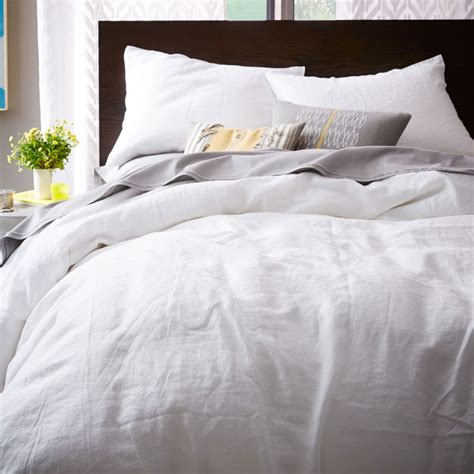 Belgian Flax Linen Quilt Cover + Pillowcases White