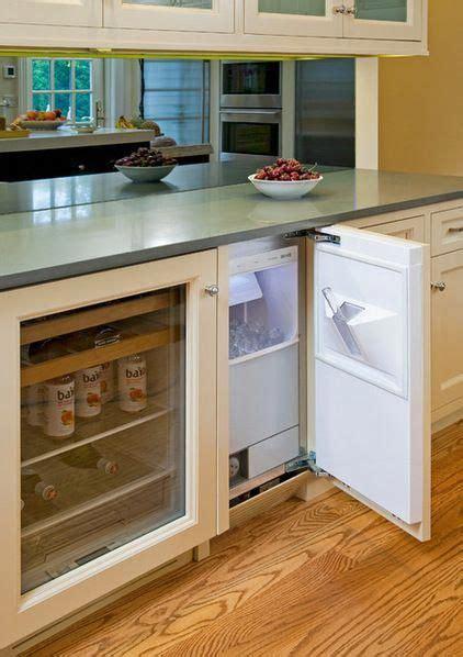 built  ice maker separate  fridge traditional kitchen  superior woodcraft
