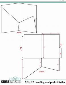 pocket folder 95quot x 12quot two diagonal pocket template With pocket folder template illustrator