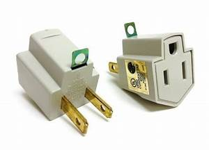 5 Pieces Electrical Ground Adapter 2 Prong Outlet To 3