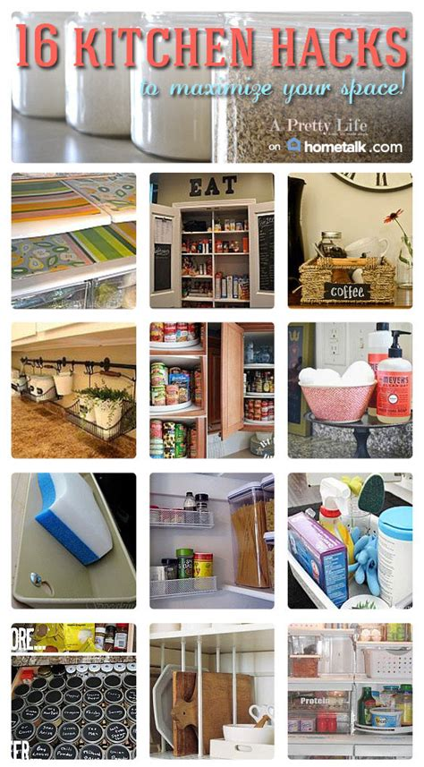 16 Kitchen Hacks To Maximize Your Space!  A Pretty Life