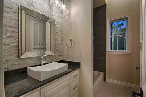 Contemporary Full Bathroom With Flat Panel Cabinets By