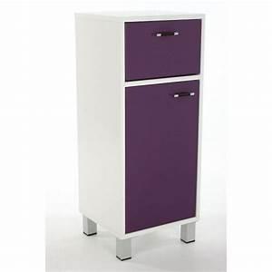 Meuble Rangement Salle De Bain : meuble bas salle de bain violet achat vente petit ~ Edinachiropracticcenter.com Idées de Décoration