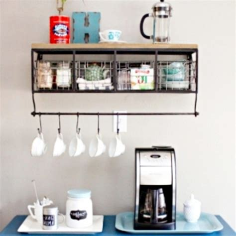 Country Style Kitchen Ideas - diy coffee station ideas home coffee bars ideas pictures