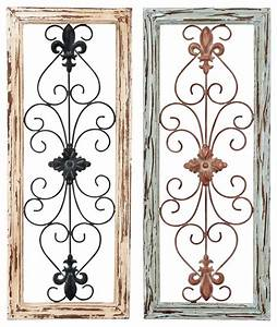 antique beige green metal fleur de lis set of 2 wall panel With kitchen cabinets lowes with fleur de lis metal outdoor wall art