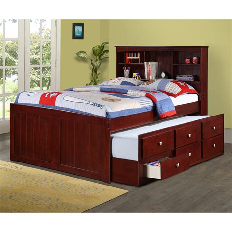Captains Bed by Donco Bookcase Captains Bed Captains Beds At Hayneedle
